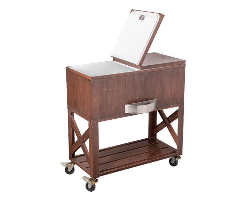High Quality Retro Cooler Cart Matched With Garden Furniture