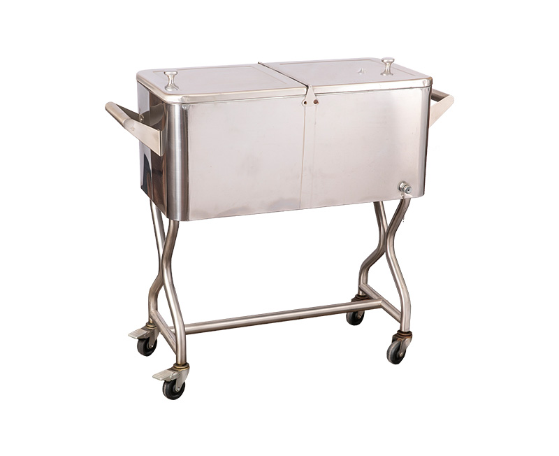 80QT OEM Metal Party Cooler Cart