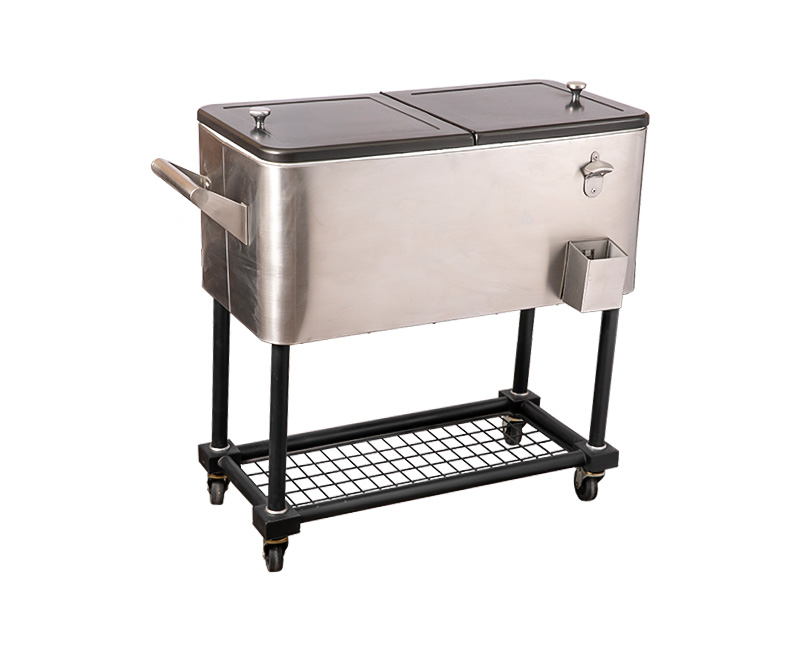 80QT Foosball Outdoor Cooler Cart With Wheels