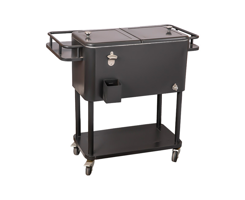 Custom High Quality 80QT Outdoor Rolling Patio Drink Cooler Cart