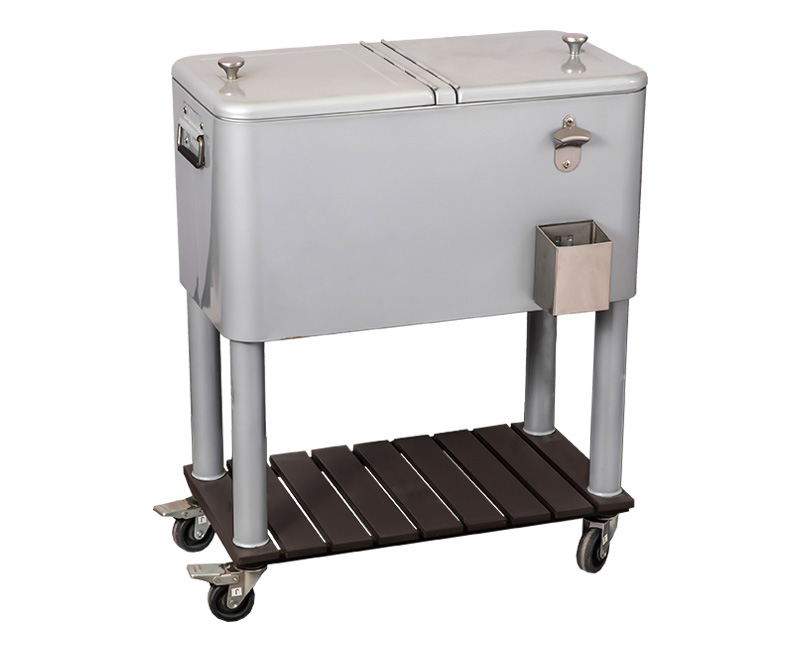 Wholesale Customization 80QT Golf Cart Push Cooler Cart
