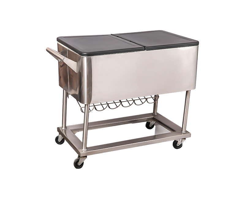 80QT Wholesale Support OEM Metal Party Cooler Cart