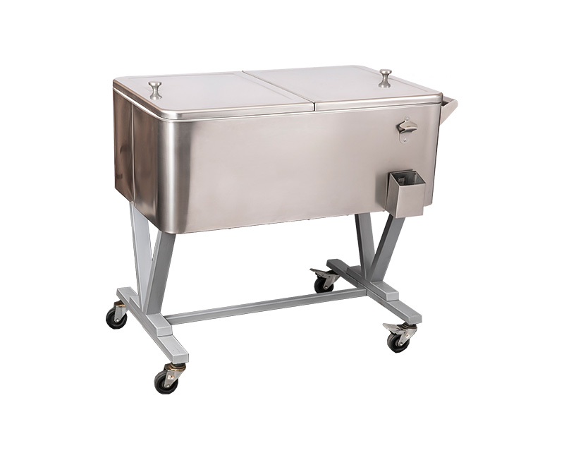 Special Design Widely Used 80QT Beach Ice Box Rolling Cooler Cart