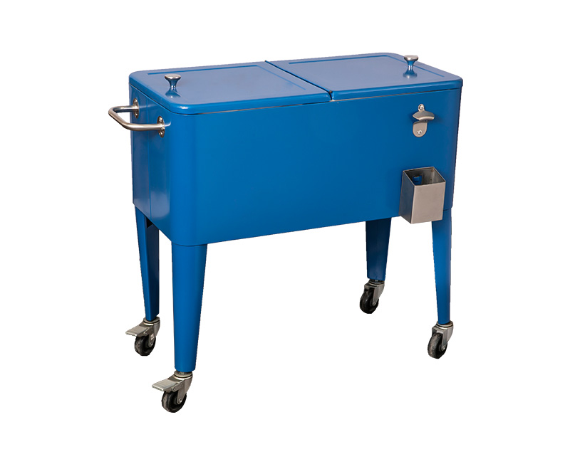 60QT OEM Large Capacity Popsicle Cooler Cart