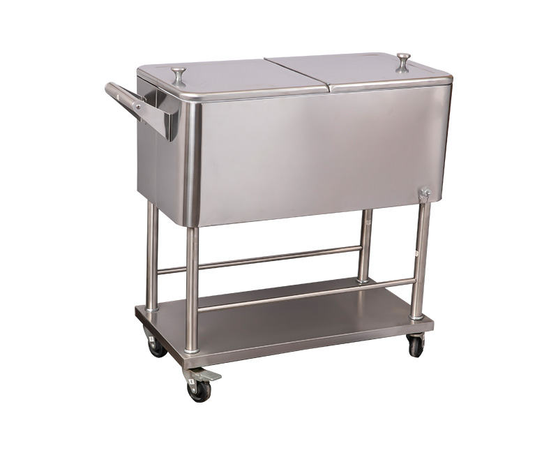 80QT All Stainless Steel Cooler Cart