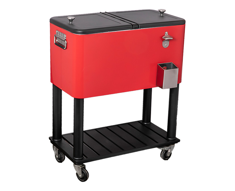 80QT Cooler Cart With Chassis