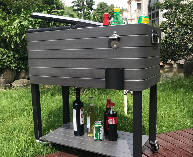 The Shell Color And Material of Cooler Cart Can Be Customized
